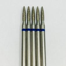 """Фреза алмазная """"пламя"""" 018 синяя"""