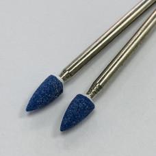 """Корундовая фреза """"пламя"""" синяя, 4 мм"""