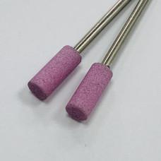 """Корундовая фреза """"цилиндр"""" розовая, 5 мм"""