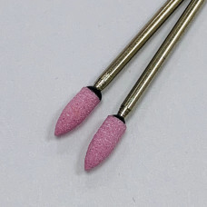 "Корундовая фреза ""пуля"" розовая, 4 мм"